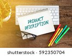 top view notebook with keyboard ... | Shutterstock . vector #592350704