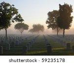 National Cemetery On A Foggy...