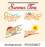 summer time | Shutterstock .eps vector #592353827