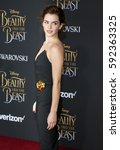 emma watson at the los angeles... | Shutterstock . vector #592363325
