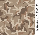 seamless camouflage pattern.... | Shutterstock .eps vector #592368275