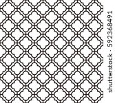 art deco seamless background. | Shutterstock .eps vector #592368491