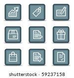 shopping web icons set 1  grey... | Shutterstock .eps vector #59237158