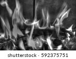 fire in the fireplace | Shutterstock . vector #592375751