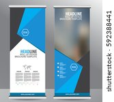 roll up business brochure flyer ...   Shutterstock .eps vector #592388441