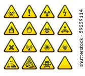 Set Of Triangular Warning...