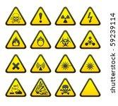 set of triangular warning... | Shutterstock .eps vector #59239114