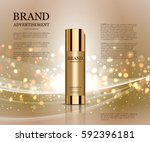 cosmetic ads template ... | Shutterstock .eps vector #592396181