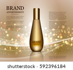 cosmetic ads template ... | Shutterstock .eps vector #592396184