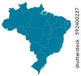 brazil blue map vector | Shutterstock .eps vector #592400237