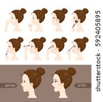 step to make up of side view... | Shutterstock .eps vector #592405895