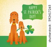 happy st. patrick's day. funny... | Shutterstock .eps vector #592417265