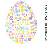 Large Set Of Easter And Spring...