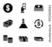 salary icons set. set of 9... | Shutterstock .eps vector #592420061