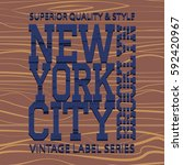 new york brooklyn typography... | Shutterstock .eps vector #592420967