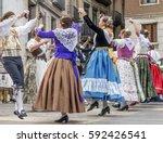 fallas balls al carrer ... | Shutterstock . vector #592426541