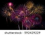 Fireworks Celebration At Night...