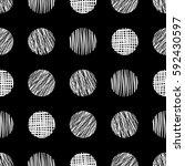 seamless raster geometrical... | Shutterstock . vector #592430597