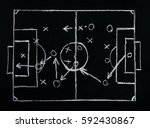 football or soccer game... | Shutterstock . vector #592430867