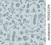 seamless raster pattern ... | Shutterstock . vector #592431194
