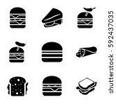lettuce icons set. set of 9... | Shutterstock .eps vector #592437035