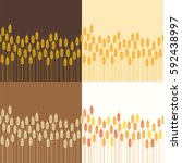 vector collection of seamless... | Shutterstock .eps vector #592438997
