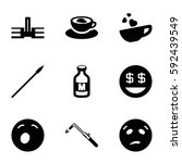 clipart icons set. set of 9