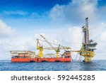 oil and gas business in the... | Shutterstock . vector #592445285