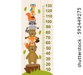 growth measure with forest... | Shutterstock .eps vector #592449275