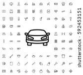 car icon illustration isolated... | Shutterstock .eps vector #592453151
