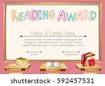 certificate template for...   Shutterstock .eps vector #592457531