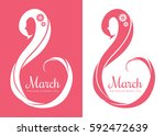 8 march  international women's... | Shutterstock .eps vector #592472639