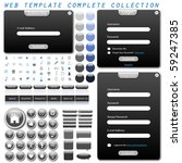 complete web template with... | Shutterstock .eps vector #59247385