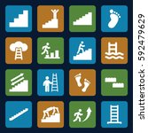 step icons set. set of 16 step... | Shutterstock .eps vector #592479629