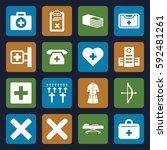 cross icons set. set of 16... | Shutterstock .eps vector #592481261