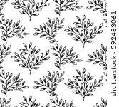 leaf pattern set | Shutterstock .eps vector #592483061