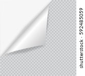 blank sheet of paper with page... | Shutterstock .eps vector #592485059