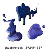 blue nail polish spilled on a...   Shutterstock . vector #592494887