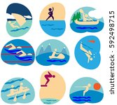 water sport  logo  symbol  icon. | Shutterstock .eps vector #592498715