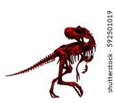 dinosaur skeleton tyrannosaurus ... | Shutterstock .eps vector #592501019