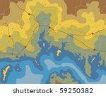 generic editable vector map of... | Shutterstock .eps vector #59250382