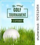 golf tournament poster template.... | Shutterstock .eps vector #592513454