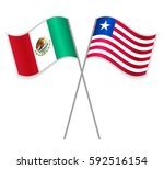 mexican and liberian crossed... | Shutterstock .eps vector #592516154