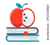 Knowledge Concept With Apple...