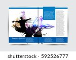 brochure layout | Shutterstock .eps vector #592526777