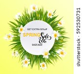 advertisement about the spring... | Shutterstock .eps vector #592530731