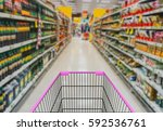 abstract blurred photo of store ... | Shutterstock . vector #592536761