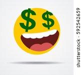 Money Emoticon In A Flat Design