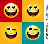 Emoticon Or Smiley Icon Set Fo...