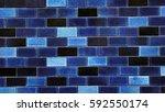 blue mosiac wall | Shutterstock . vector #592550174
